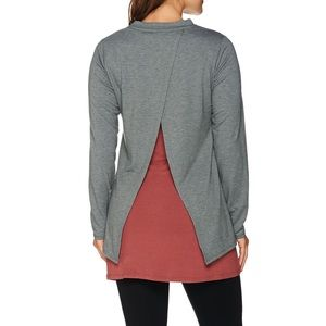 Logo lounge Lori Goldstein open back sweatshirt